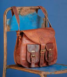 Women-039-s-New-Genuine-Brown-Leather-Shoulder-Messenger-Cross-Body-Vintage-Bag