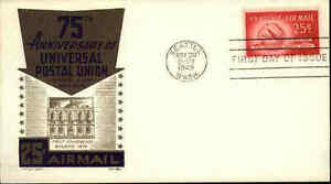 1949-USA-US-Cover-Stamp-Issue-25-Cent-Postal-Union-Cancel-SEATTLE-Washington-St