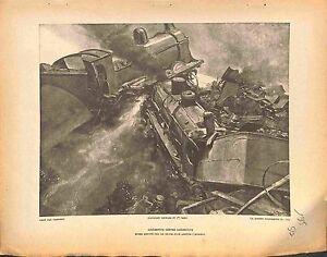 Bataille-des-Flandres-Belgique-Accident-Locomotives-de-Camoreyt-Peintre-1915-WWI