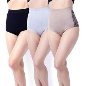 Slim n Lift Caresse Brief 3 Pack Small Black NEW Silver /& Gold