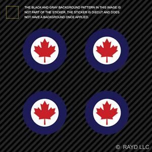 4x-1-5-034-Royal-Canadian-Air-Force-Roundel-Sticker-Die-Cut-Canada-RCAF-CAN-CA