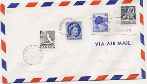 Canada 1954 Airmail First Day Cover Walrus Beaver #335-36 plus Additional Postag