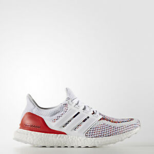 4669f07cf2f3 adidas Ultra Boost 2.0 Multicolor Rainbow Running Shoes White Red ...