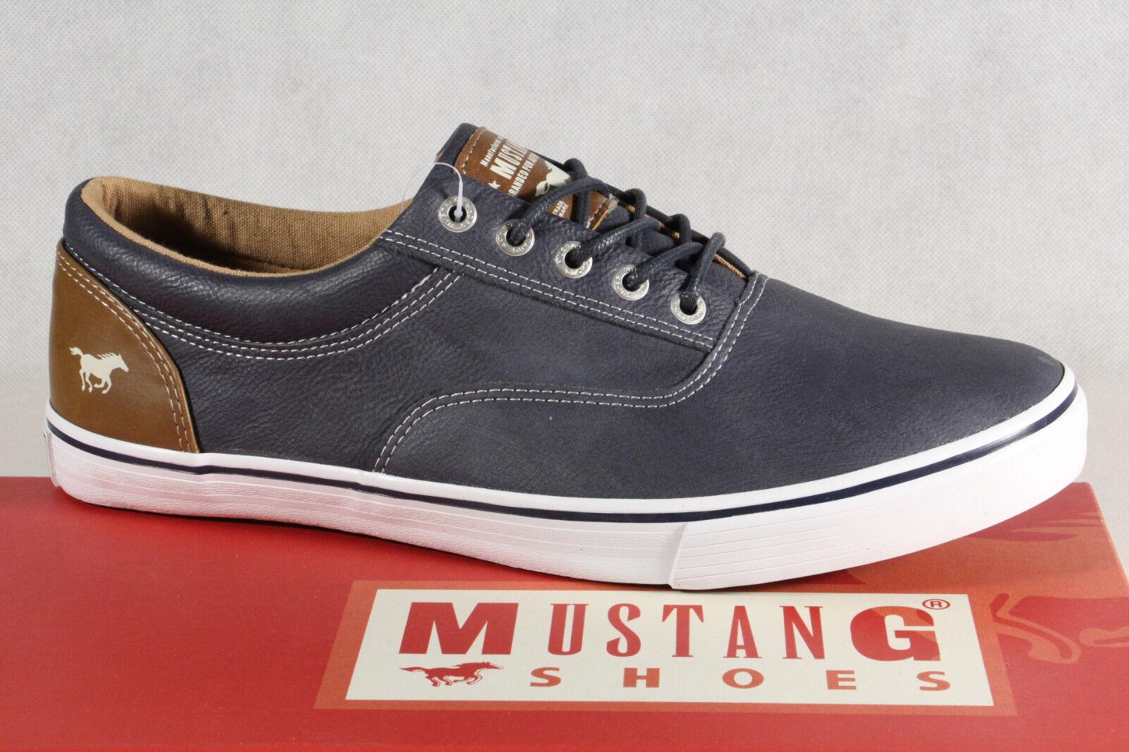 Mustang Schnürschuhe Sneaker, Halbschuhe Sportschuhe Slipper Gummisohle blau NEU