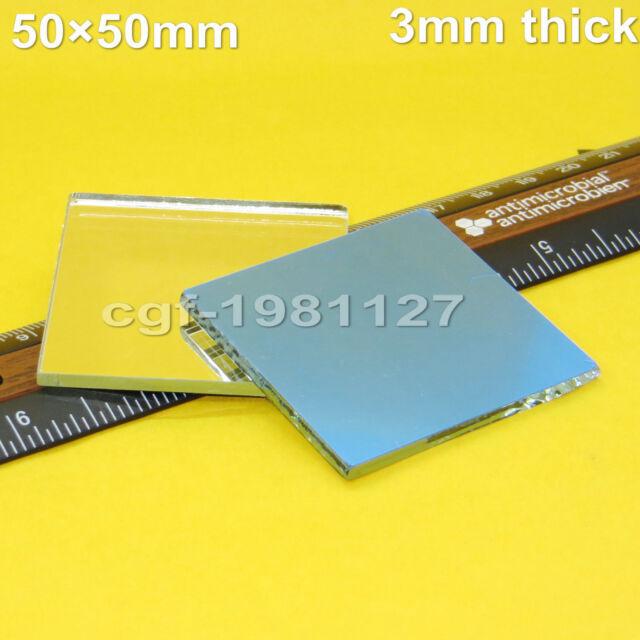 2 Pcs First 1st Surface Mirror, Laser Optics 50 x 50cm x 3mm thick
