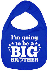 Brother-Baby-Bib-034-I-039-m-Going-to-Be-a-Big-Brother-034-Feeding-Time-Dribble-New