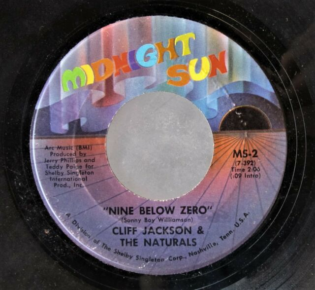 MEMPHIS BLUES 45: CLIFF JACKSON & THE NATURALS Nine Below Zero/Up the Wall