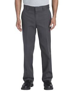 21ea1fb9323 Dickies Mens FLEX Slim Fit Straight Leg Work Pants Charcoal 873FCH ...