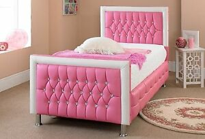 Image Is Loading Princess Pink And White Diamante Diamond Faux Leather