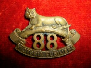CEF-88th-Battalion-Victoria-Fusiliers-Officer-039-s-Collar-Badge-Canadian-WW1