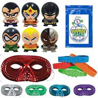 Superhero Buildable Figurines, Masks And Bracelets Party Set