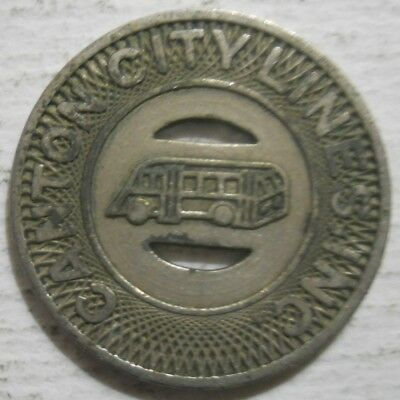 Ohio transit token Canton City Lines OH125M