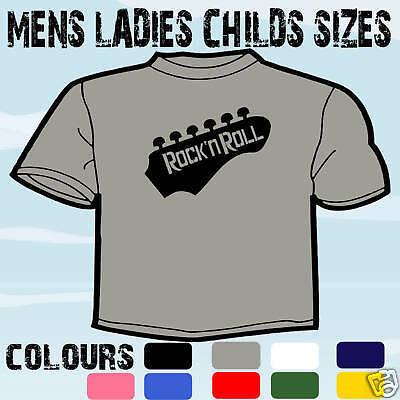 Rock n roll guitare t-shirt toutes les tailles et couleurs