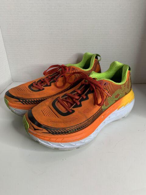 RARE Hoka One One Bondi 5 Red Orange Gold Fusion Shoes Men's Size 10