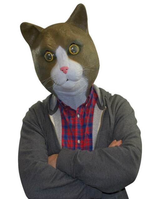 Big Mouth Toys Buster Brown The Cat Costume Mask  sc 1 st  eBay & Big Mouth Toys Buster Brown The Cat Costume Mask | eBay