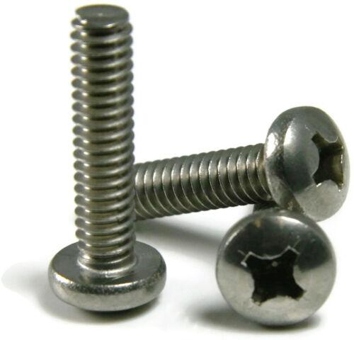 Stainless Steel Phillips Pan Head Machine Screw #10-32 x 2-1//2 Qty 25