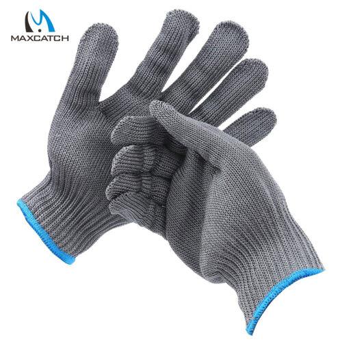 XL 1 Paar Maxcatch Schnitt beständig Filet Handschuh Fliegenfischen Grau