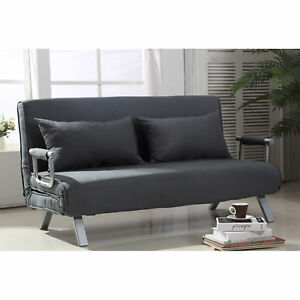 Details about HOMCOM Convertible Sofa Bed Adjustable Sleeper Lounger Chair  Living Room Bedroom