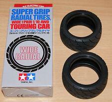 Tamiya 53231 Super Grip Radial Tires, Wide (1 Pair) Taisan/Capri/Porsche 911 RSR