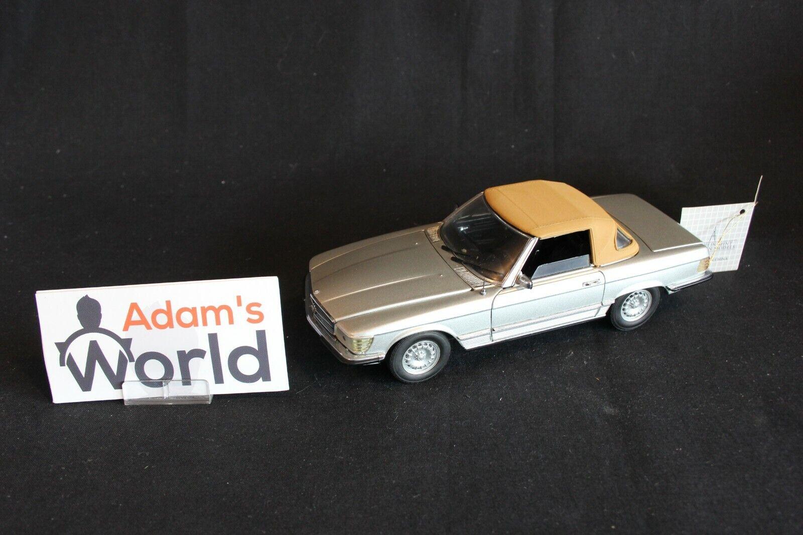 Franklin Mint Mercedes-Benz 450 SL 1 24 silver   brown top (JS)
