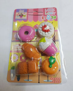 Fancy Design and Different Eraser Shape Rubbers for School Cute Kids Vegies