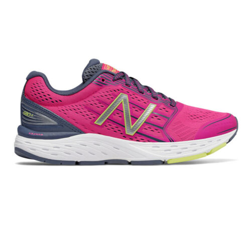New Balance Womens 680v5 Running Shoes Trainers Sneakers Pink Sports Breathable
