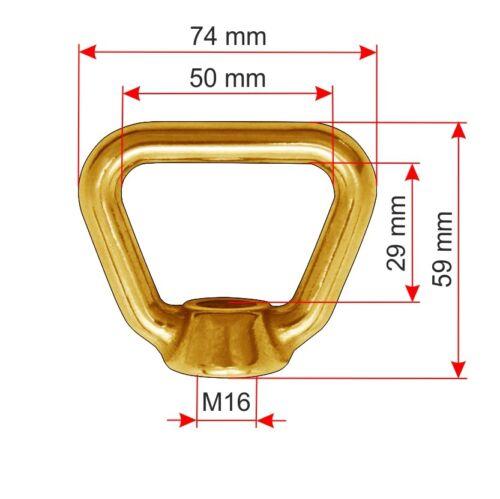 Korbmutter M12 M16 ähnlich DIN 80704 Messing Brass