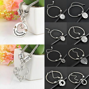 Women-Charm-Hot-Party-Family-Bangle-Bracelet-Love-Words-Beads-Jewelry-Best-Gifts