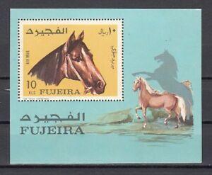 814 Horse Kopf S / Blatt Fujeira Bl84 A Mi Cat