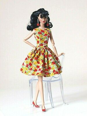 Nu face by Olgaomi Bright flowered dress for Poppy Parker