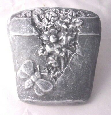 Butterfly planter plaque mold plaster cement garden casting wall pot decor mould