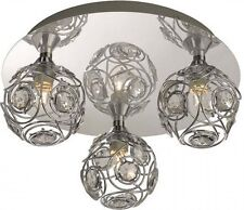 Massive by Philips 3 Light Modern Ceiling Fitting in Chrome 378501110 with Bulbs