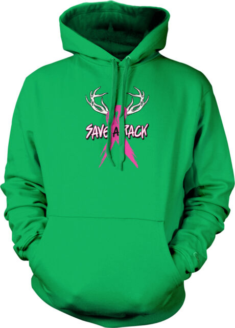 Save The Boobies Pink Ribbon Breast Cancer Awareness Hoodie Pullover Sweatshirt