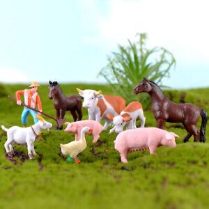 Miniature Animals Figurines Diy Terrarium Ornament For Miniature
