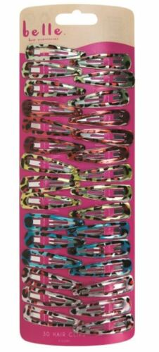 30x Multicolour Hair Clips Snap Belle Claws Girls Women/'s Glittered Accessories