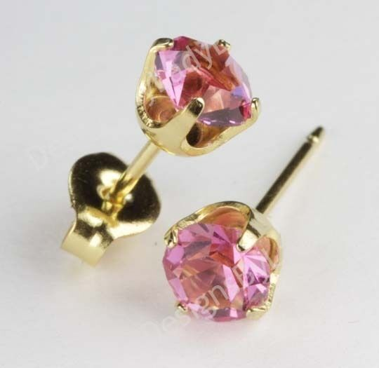 earrings earring stud tourmaline pink