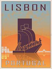 Viajes Turismo Lisboa Portugal Monumento descubrimientos Vector cartel impresión bmp10664