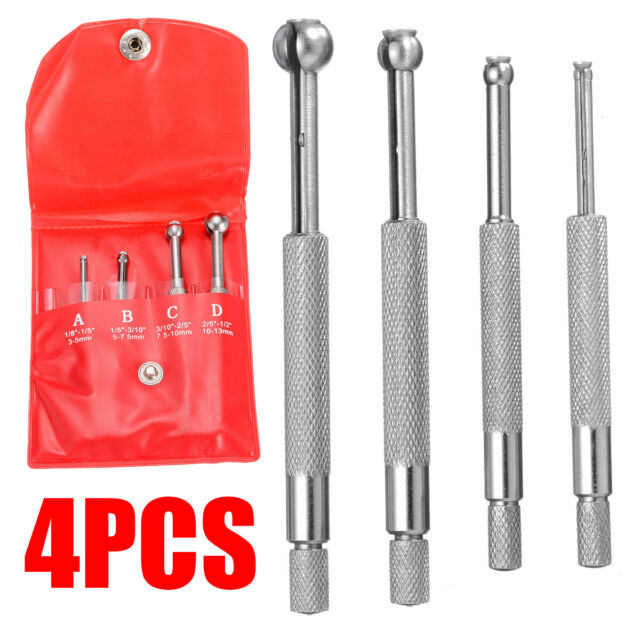 4pcs 3-13mm Full Ball Type Gage Telescopic Small Hole Bore Gauge Set