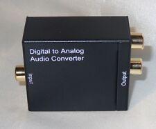 Konverter Digital Toslink / SPDIF Koaxial auf zu Analog Audio Wandler Converter