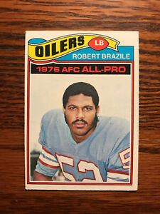 1977 Topps #240 Robert Brazile Football Card Houston Oilers AFC All Pro Raw