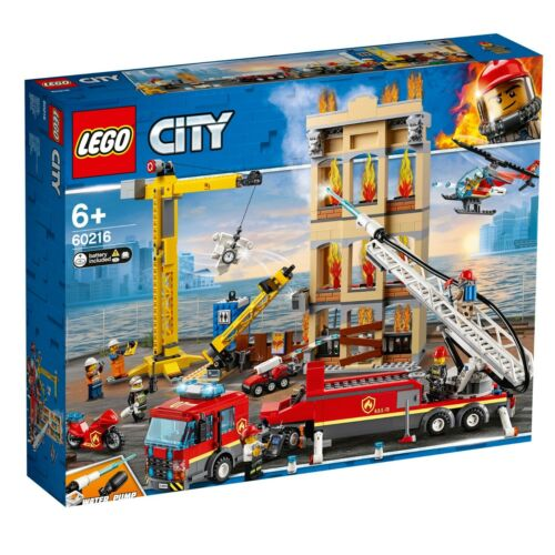 Lego 60216 City Downtown Fire Brigade ~NEW ~