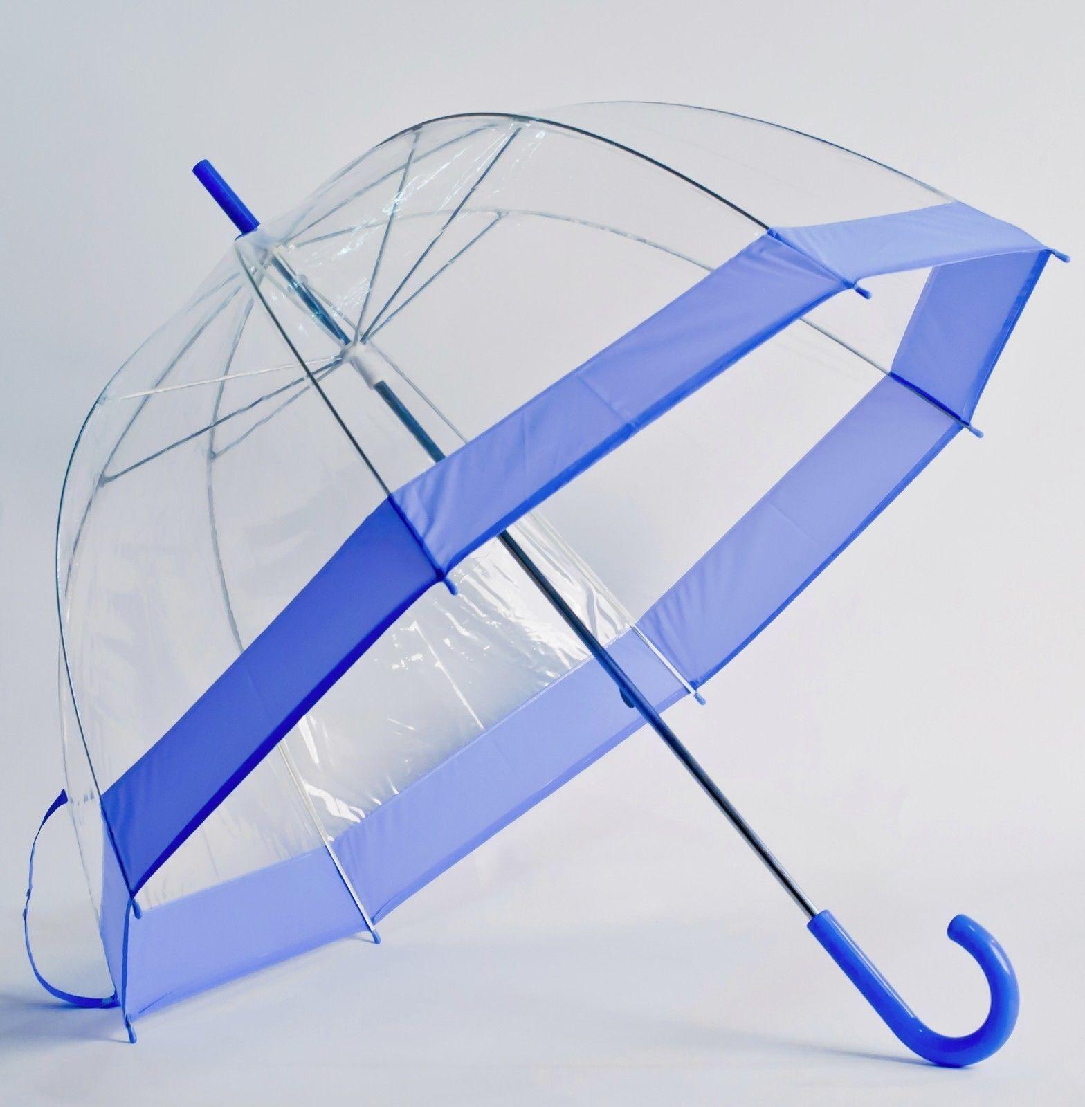 LAVENDER Trim Clear See Through Bubble Dome Elite Fashion Umbrella