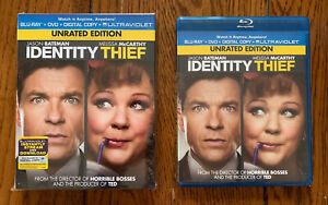 Identity Thief 2013 Blu Ray Dvd Unrated W Slipcover Jason Bateman Mint Ebay