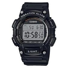 Casio Men's Digital Black Resin Band, 100 Meter WR, Vibration Alarm, W736H-1AV