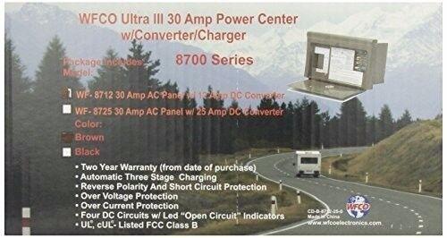 WFCO WF-8712 Brown 12 Amp Power Center