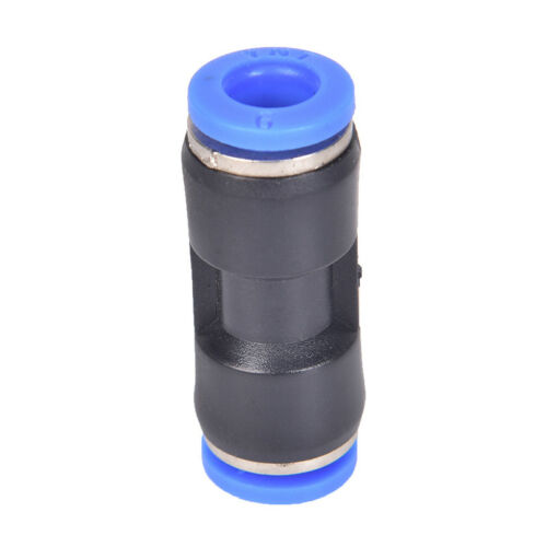 """10pcs 6mm Pneumatic air quick push to connect fitting 1//4/"""" OD straight tube HK"""