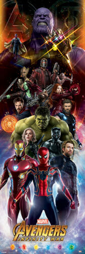 Infinity Guerre Personnages Porte Affiche CPP20254 53 x 158cm Avengers