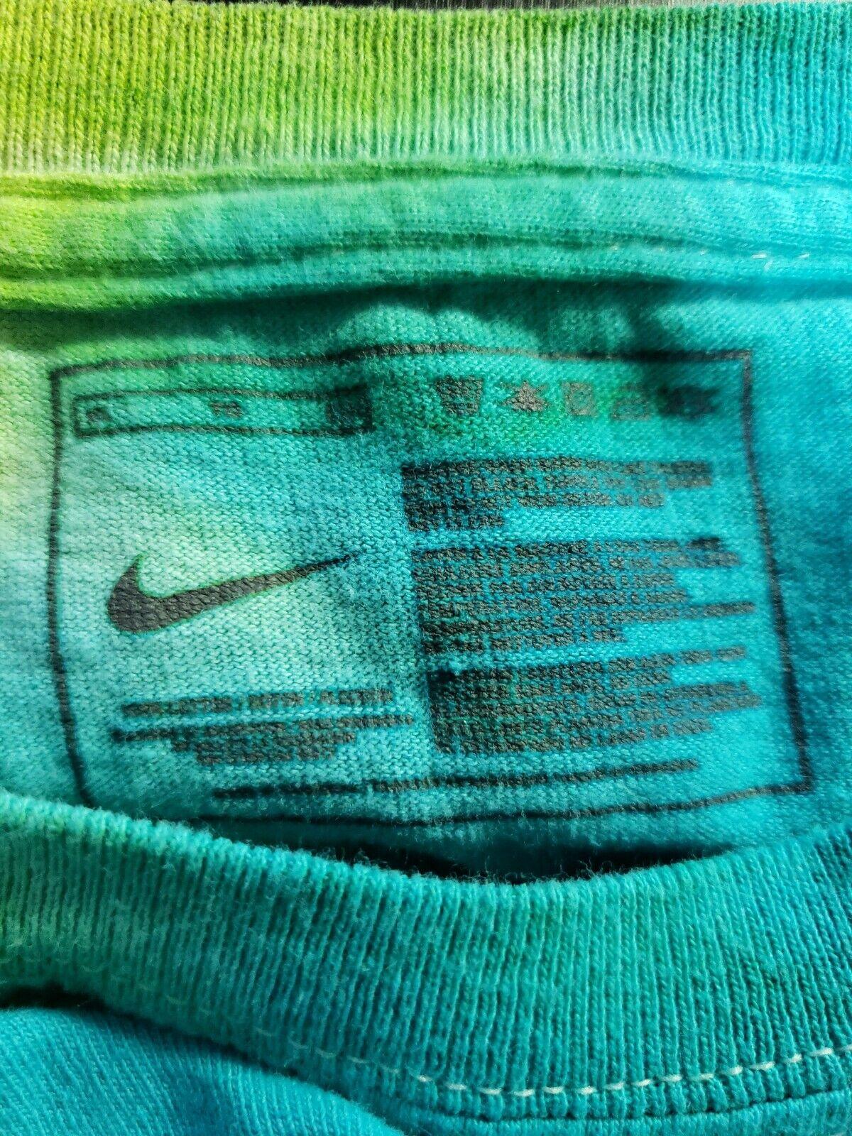 Vintage 90's Y2K Nike Swim Tie Dye AOP T Shirt Si… - image 5