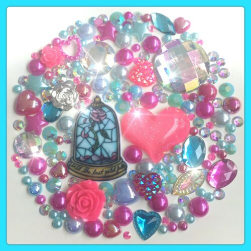 Disney Beauty /& the Beast Enchanted Rose Theme Flatback Cabochons /& Pearls #6