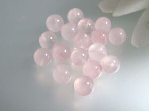 6,8,10mm natural Rose Quartz half drilled gemstone round beads for DIY Earrings